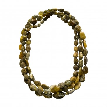 3 pcs of dark green x matt amber necklaces