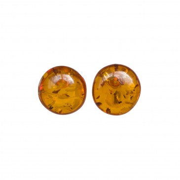 Cognac post earrings #02