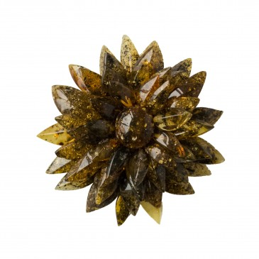 Dark green dahlia brooch
