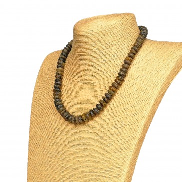 Dark amber tablets necklace