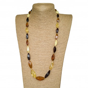 L twisted mix statement necklace very long