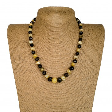 M dark green x matt baroque necklace