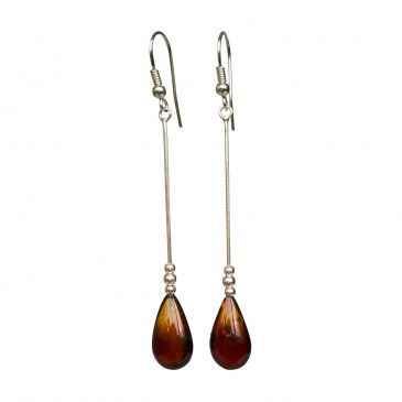 SY cherry amber drops earrings