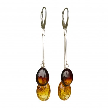 SY mix color amber plums earrings