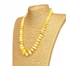M white x yellow raw amber nuggets necklace