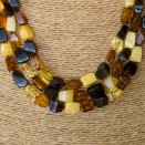 3 mix fragments strings necklace