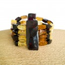 4 strings matt beads bracelet
