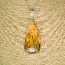 Amber pendant with inclussions #09