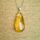 Amber pendant with inclussions #14
