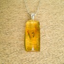 Amber pendant with inclussions #30
