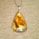 Amber pendant with inclussions #36