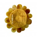 Antique amber color flower brooch