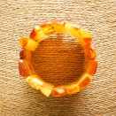 Yellow x matt classic natural amber bracelet