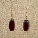 Cherry color amber earrings fragments #01