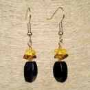 Cherry color amber earrings fragments #03