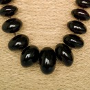 Cherry color natural amber nuggets necklace