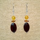 Cherry flat plums earrings