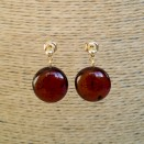 Cherry post earrings #02