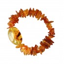 Cognac chips with large stone bracelet