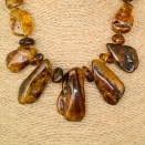 Cognac color 5pcs copal necklace #01