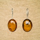 Cognac plums earrings #05