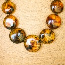 XL round multicolor copal beads necklace #01