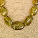 Dark green color copal plums necklace