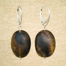 Frozen green amber earrings plums #01