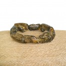 Genuine black amber natural shape beads bracelet
