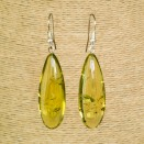 Green color copal earrings drops #02