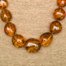 L cognac nuggets necklace #2