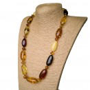 L earth mix olive necklace long