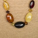 L mix olive x cognac beads necklace