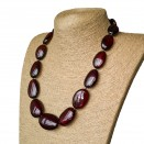 L oval cherry statement necklace