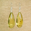Lemon color copal earrings drops #06