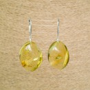 Light lemon copal twisted earrings #03