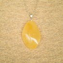Matt color amber pendant with a twist #05