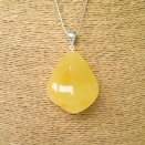 Matt color amber pendant with a twist #08