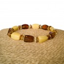 Matt x cognac fragments x faceted tablets bracelet