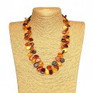 L mix leafs necklace