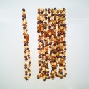 Natural amber baroque teething baby necklace multicolor (10pcs)