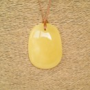 Natural amber matt color drop pendant #09