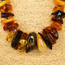 Dark mix chips necklace