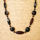 Cherry color long lightweight amber necklace