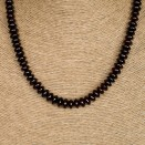 S dark cherry tablets necklace