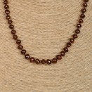 S dark cognac baroque necklace