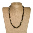 S frozen dark green baroque necklace