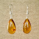 S natural amber cognac drops earrings #06