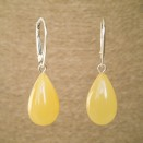 S natural amber matt drops earrings #03