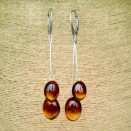 SY cherry amber plums earrings
